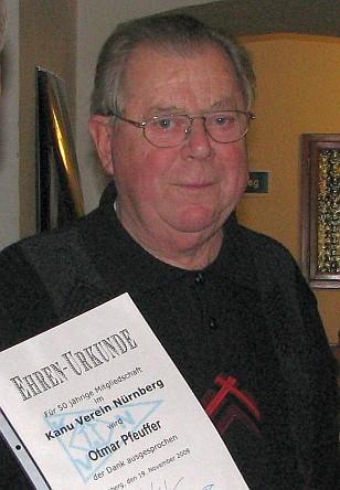 Otmar beim 50. Vereinsjubiläum in 2008