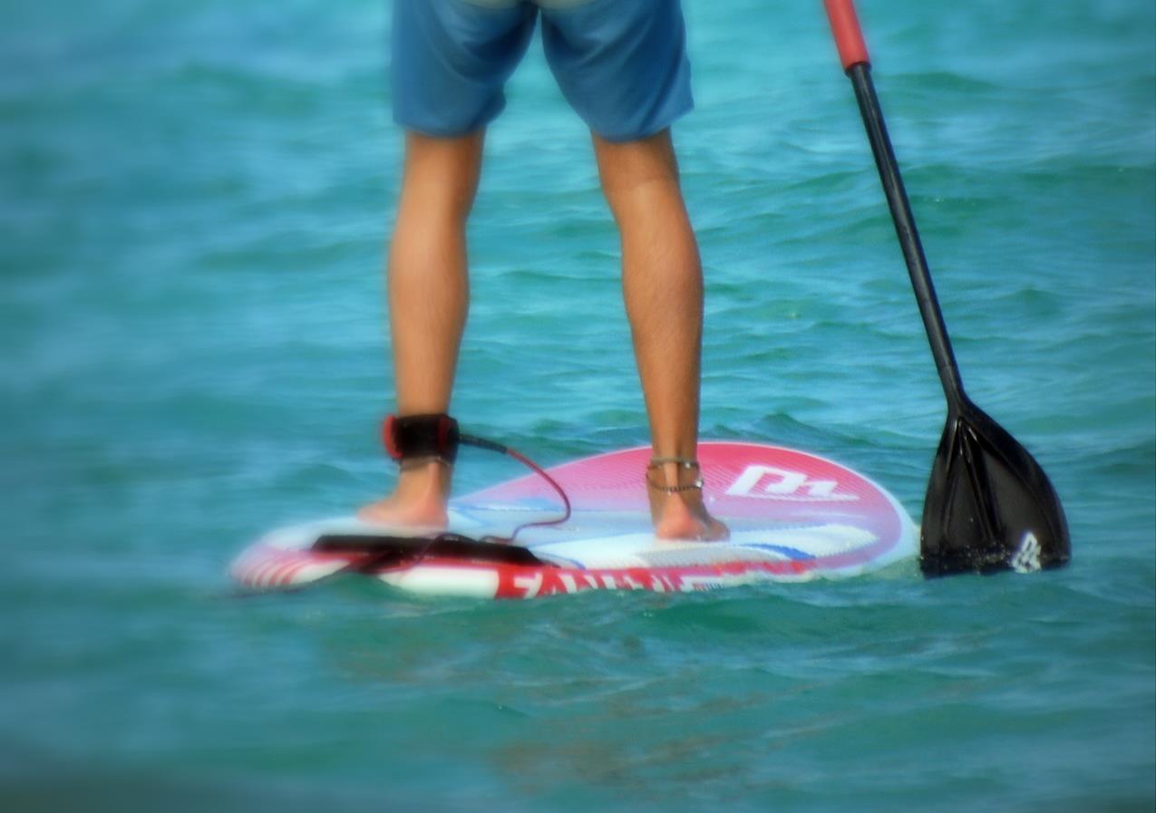 Stand up paddling man